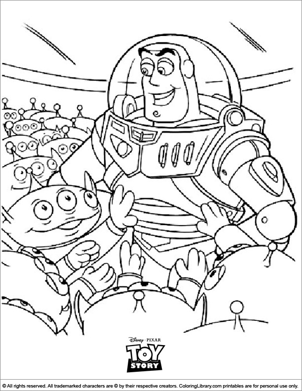 Toy Story free coloring page