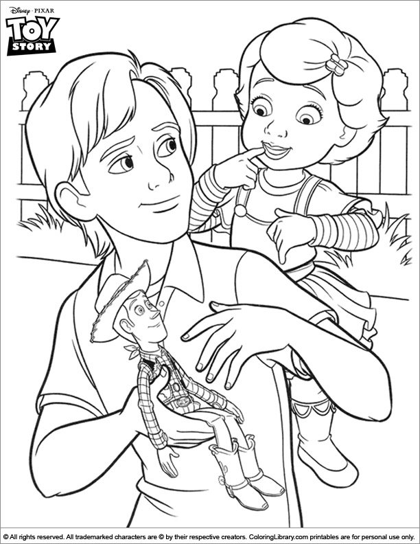 Toy Story coloring sheets for kids