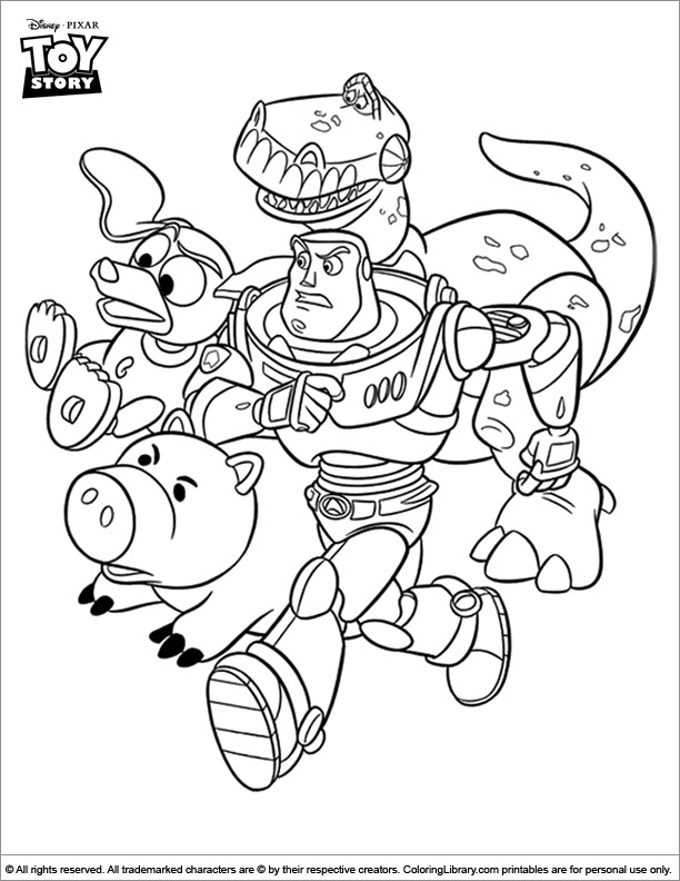 Toy Story coloring pictures for kids