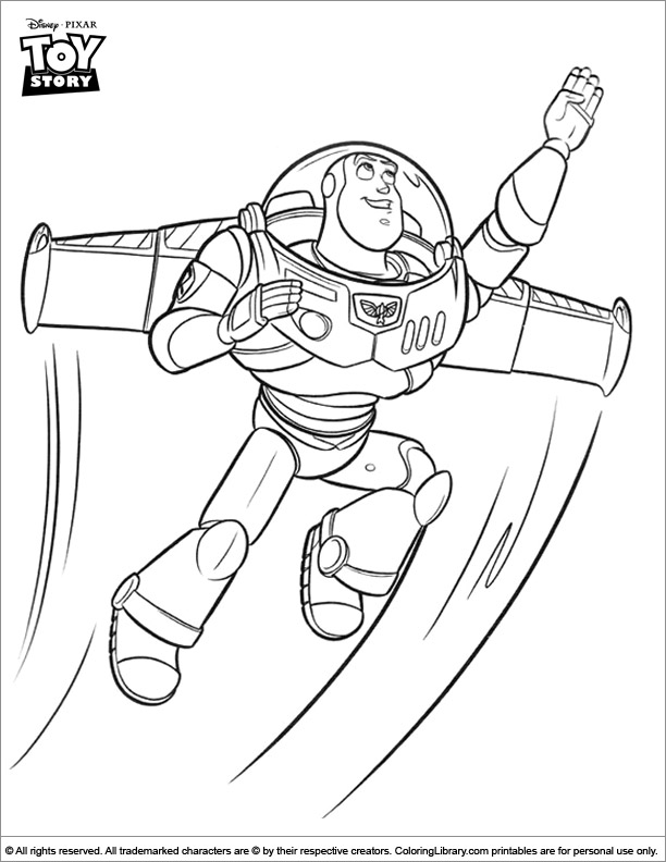 Toy Story free coloring sheet