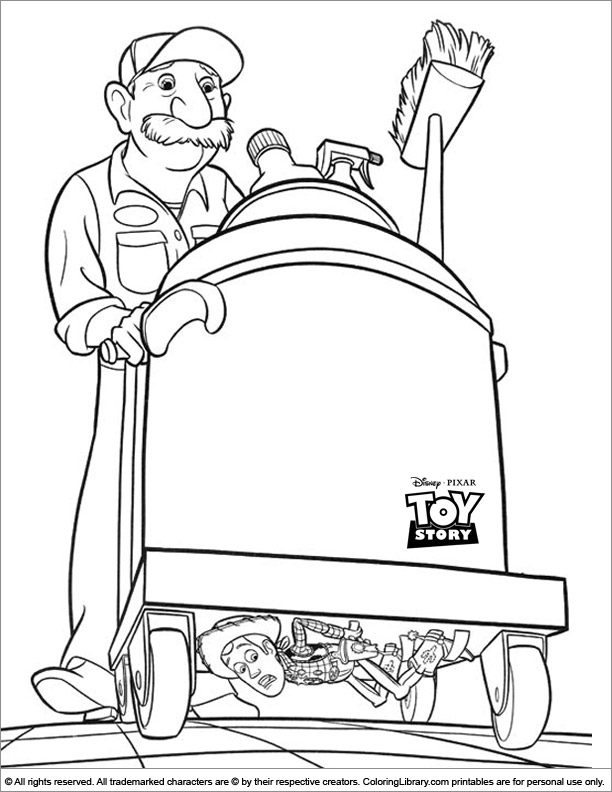 Toy Story free coloring picture