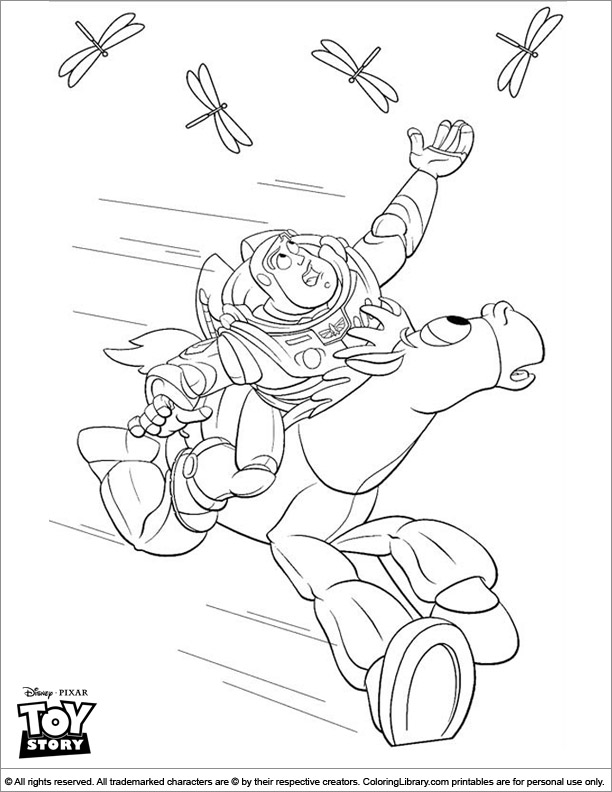 Toy Story free coloring page for children