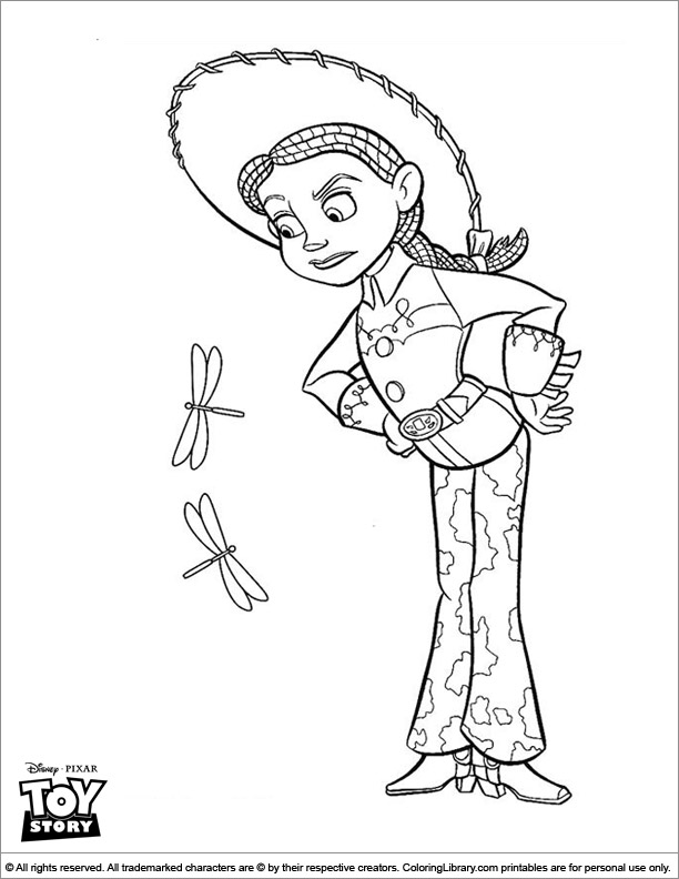 Toy Story picture to print and color