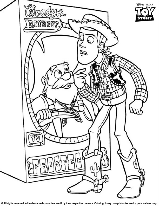Toy Story coloring book sheet