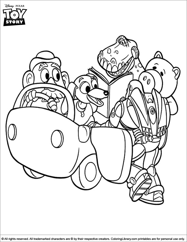 Toy Story coloring page that you can print