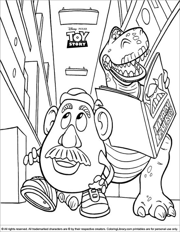 Toy Story coloring book page for kids