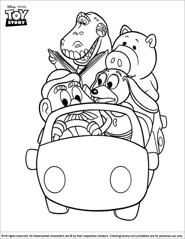 Toy Story fun coloring picture