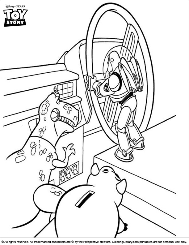 Toy Story coloring page for kids