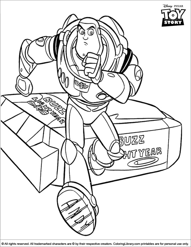 Toy Story printable coloring page