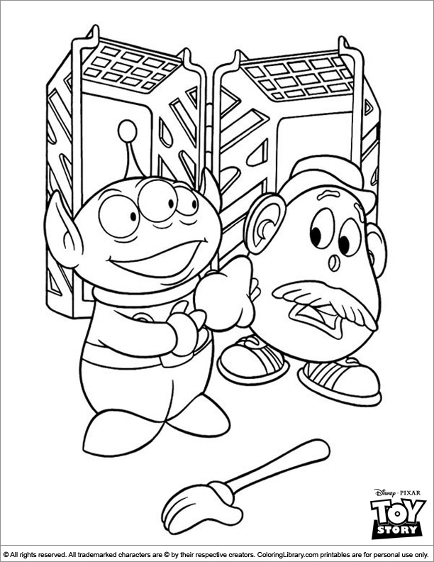 Toy Story Coloring Book Page For Kids Coloring Library