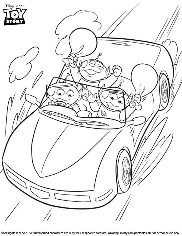 Toy Story free printable coloring page