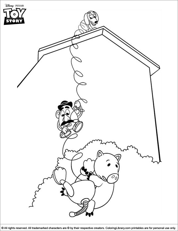 Toy Story coloring sheet for kids