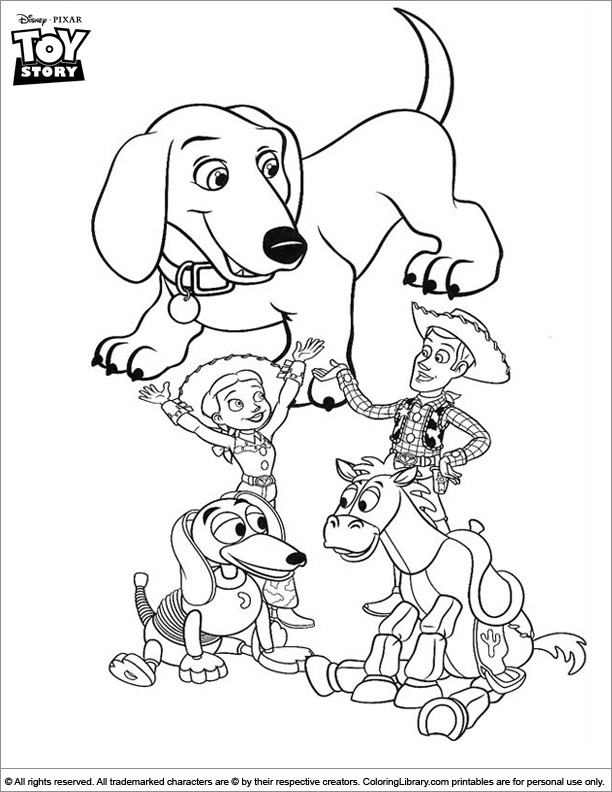 Toy Story colouring in