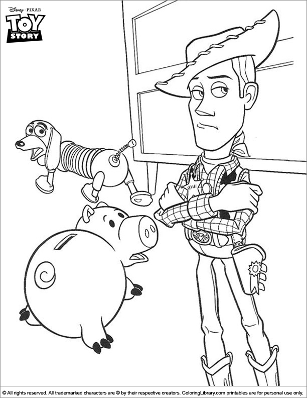 Free Toy Story color sheet