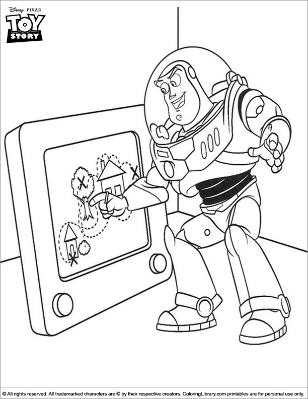 Toy Story coloring page to print