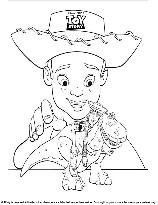 Toy Story free coloring