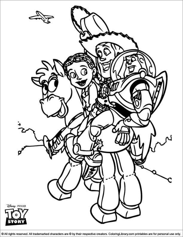 Toy Story coloring page online
