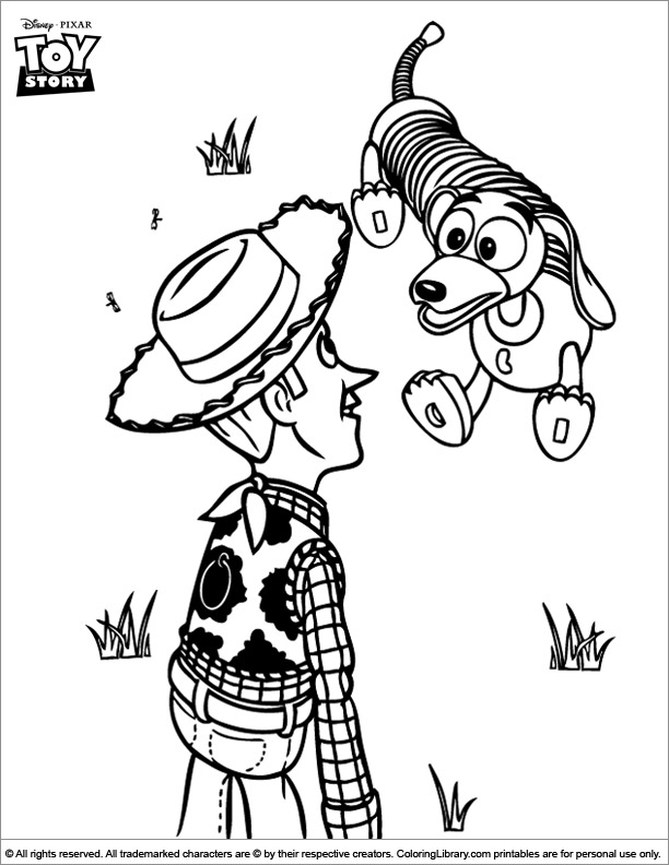 Toy Story coloring book page