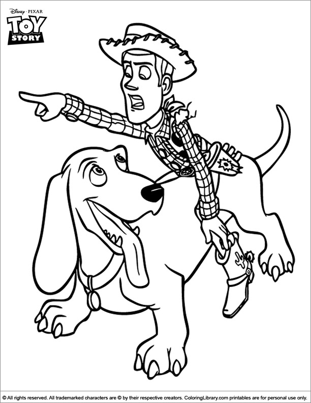 Toy Story fun coloring page