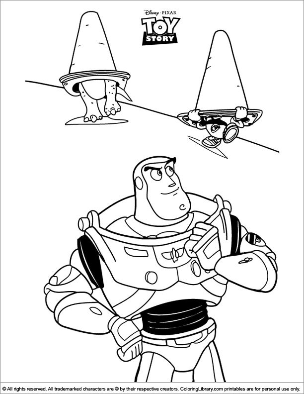 Toy Story coloring book printable