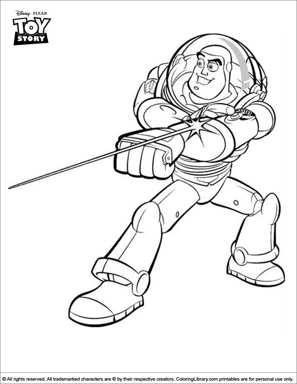 Fun Toy Story coloring page