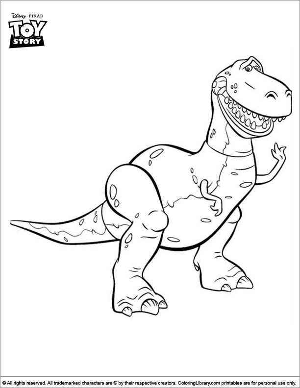 Toy Story coloring sheet to print
