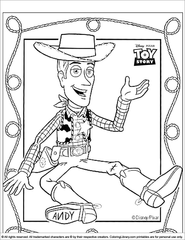 Toy Story coloring printable for kids