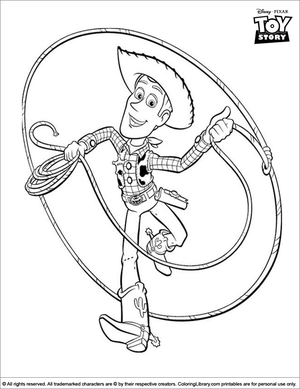 Toy Story colouring sheet