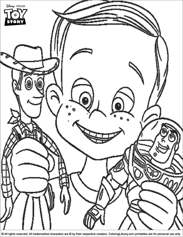 Toy Story coloring printable