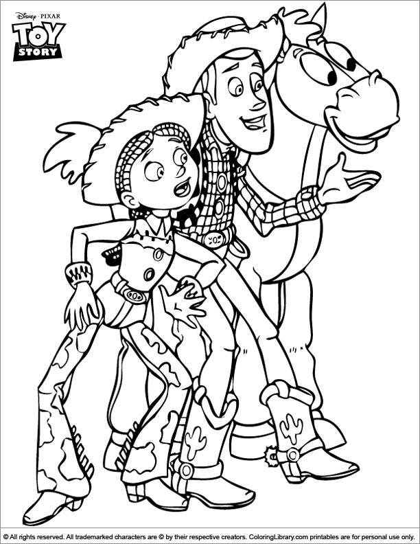 Toy Story coloring printout