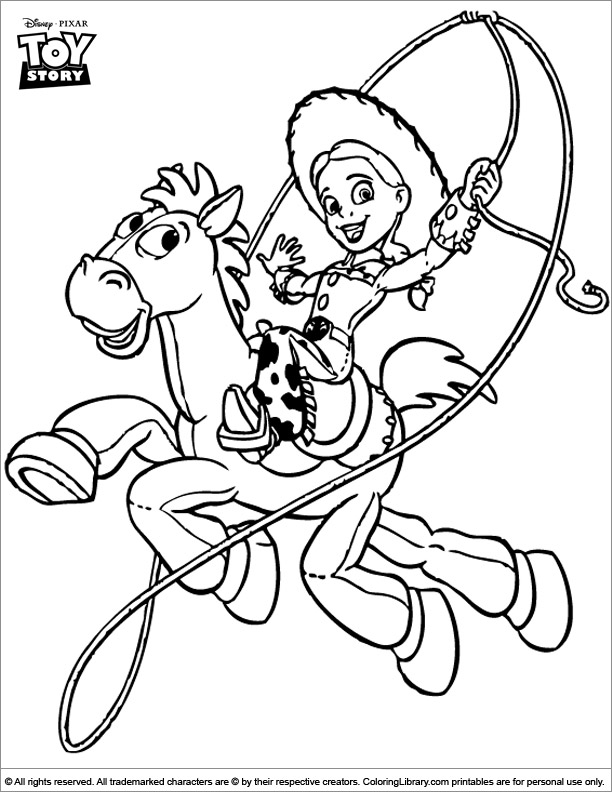 Toy Story coloring page for kids to print