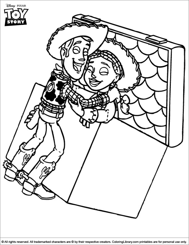 Toy Story coloring picture to print