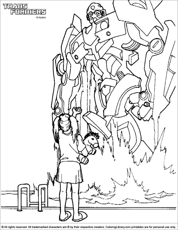 Transformers coloring page online