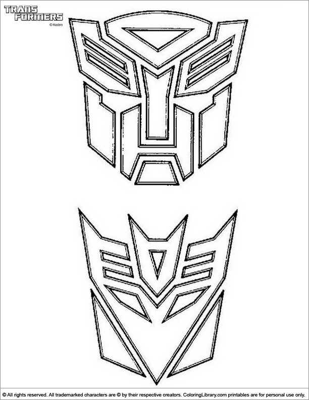 Transformers Coloring Picture A Coloring Picture