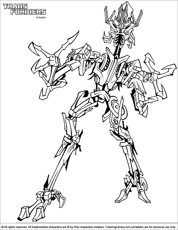 Transformers online coloring page