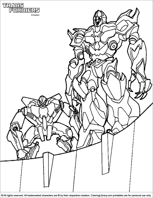 transformers fighting coloring pages - photo#6