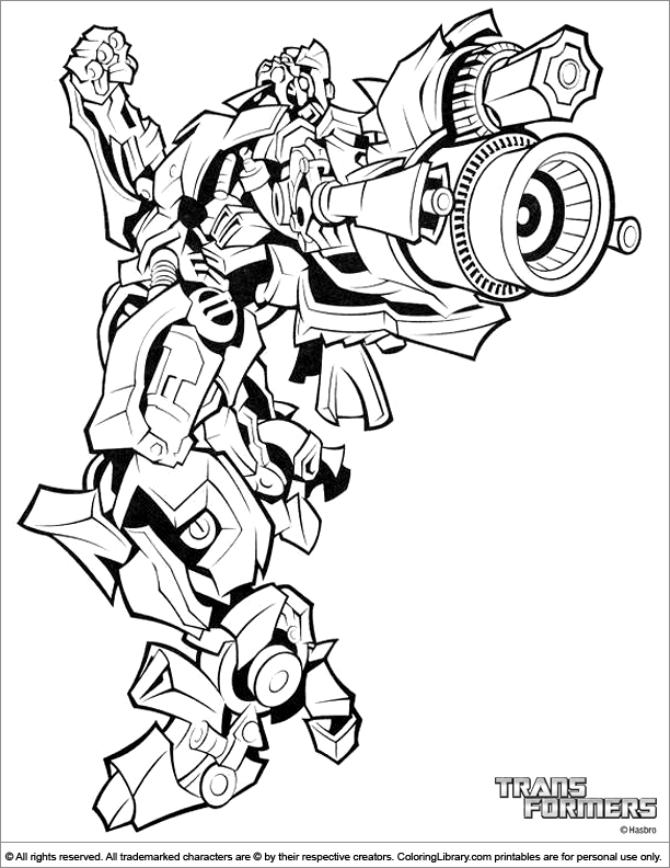 transformers fighting coloring pages - photo#20