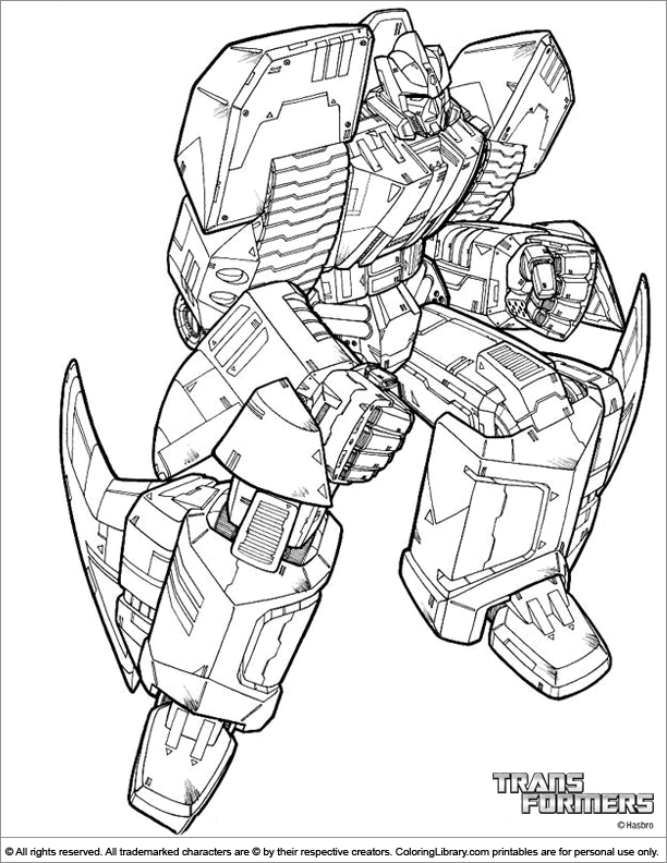 Transformers coloring book picture