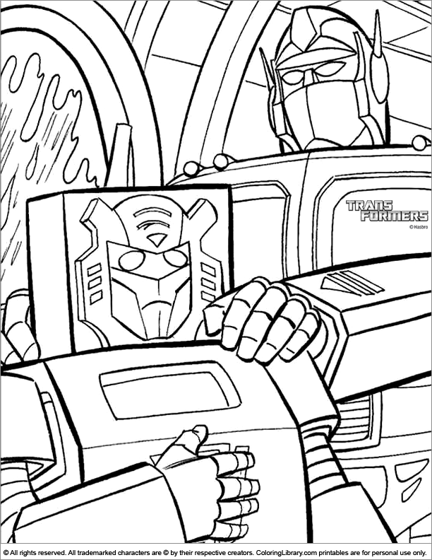 Transformers coloring fun