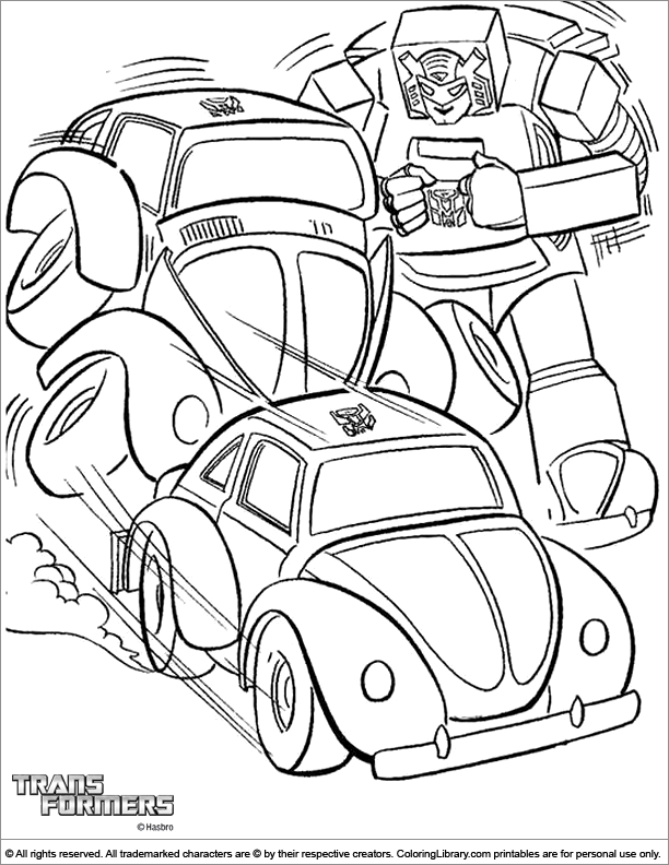 Transformers coloring sheets for kids
