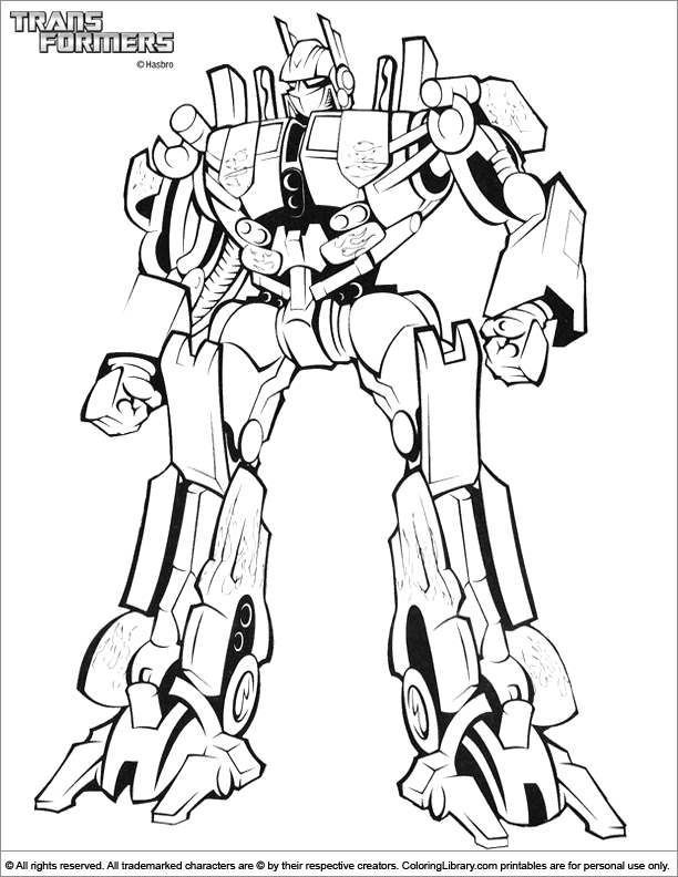 Transformers Coloring Pages Printable Transformer Page Free For ... | 792x612