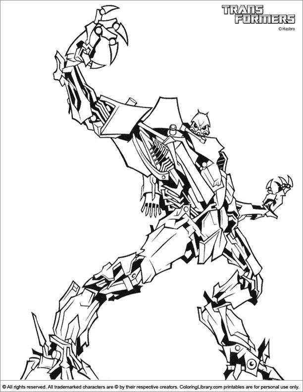 Transformers free printable for kids