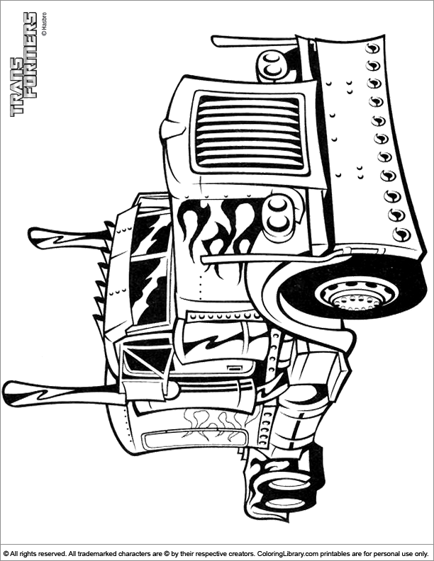 Transformers coloring for kids free
