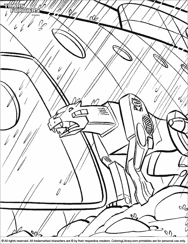 Transformers coloring page for kids