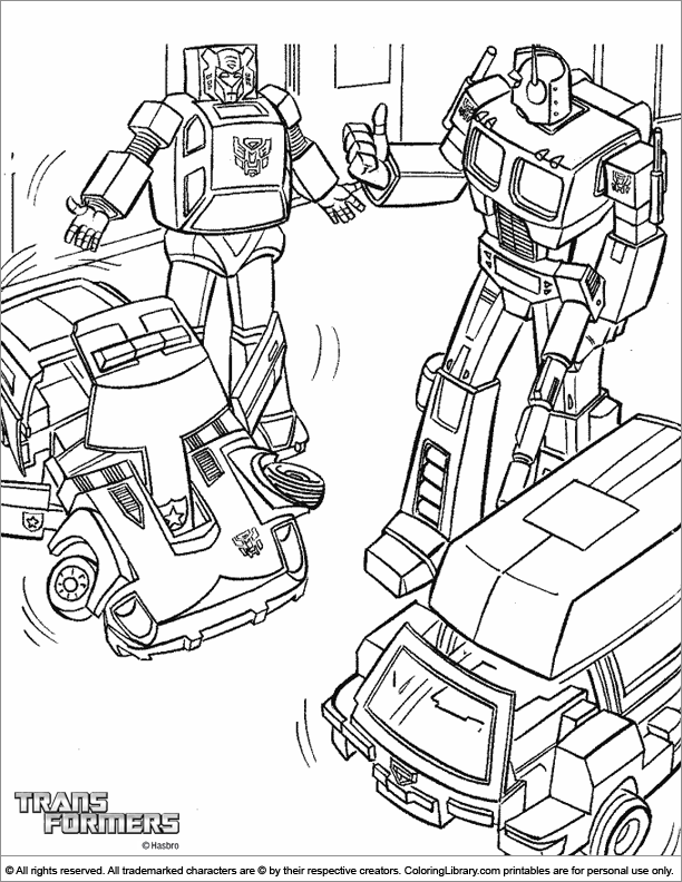 - Transformers Printable Coloring Page - Coloring Library