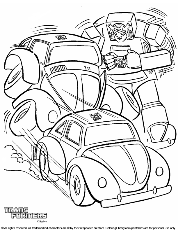 Transformers free printable coloring page
