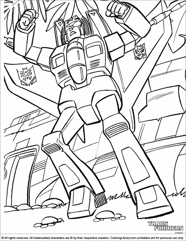 Transformers coloring pictures for kids