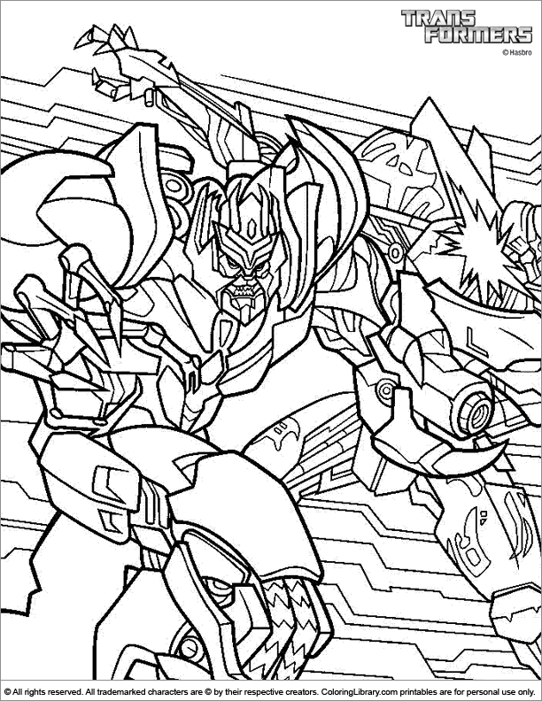 Transformers free online coloring page