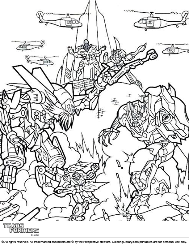 Transformers free coloring