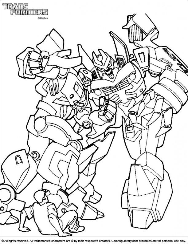 Transformers free coloring picture